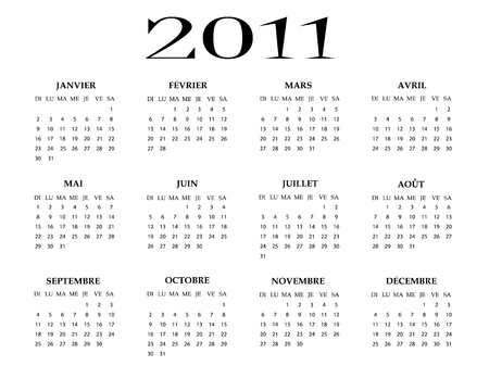 French calendar of 2011 year