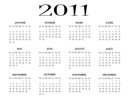 French calendar of 2011 year
