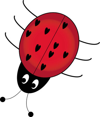 cartoon bug: Ladybug