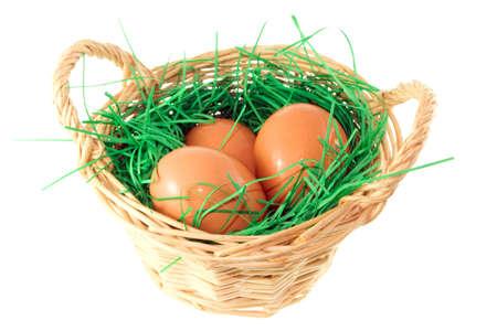 basket wit eggs