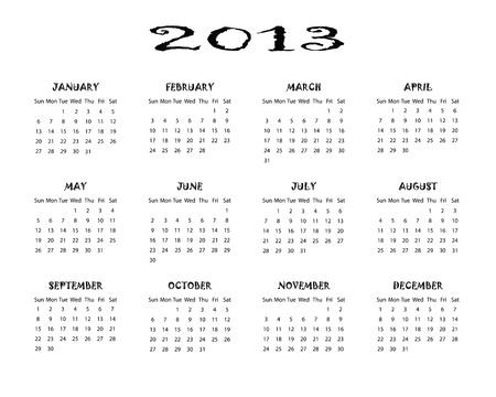Calendar 2013 Stock Vector - 16650639
