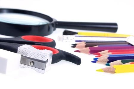 School items background Stock Photo