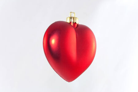 Studio shot of hanging red heart