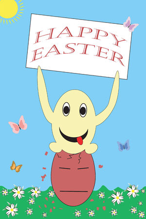 Happy easter funny greeting