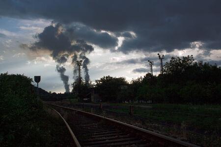 Big smoke by power plant