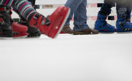 Bottom of skating rink