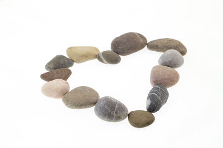 Heart shape made of stones