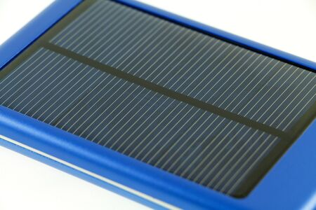 Solar charger on white background Stock Photo