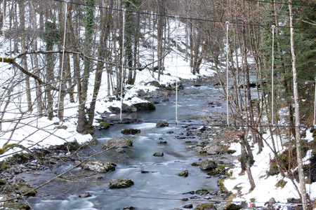 Mountain river during winter
