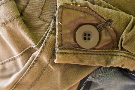 Closeup of pant back pocket with button Stock Photo