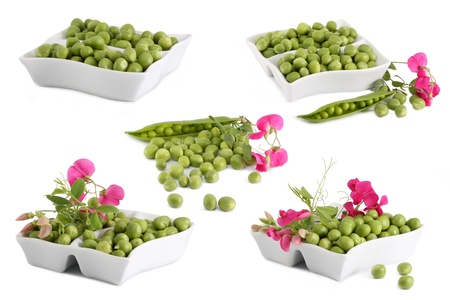 green peas collage photo