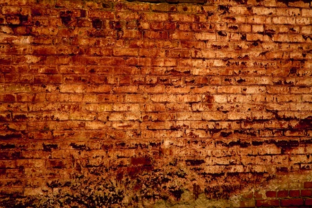 strong base: texture of the old wall of red brick