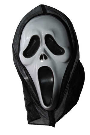 decorative halloween mask phantom black on a white background photo