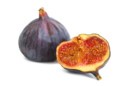 tannins: Figs in the context of a white background Stock Photo