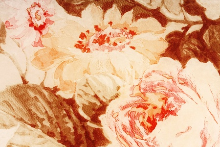 parchment paper background old faded with abstract flowers Stock Photo - 10652177