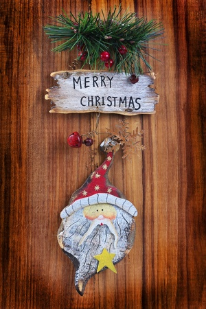 old christmas ornaments on a wooden board stock photo 11531506