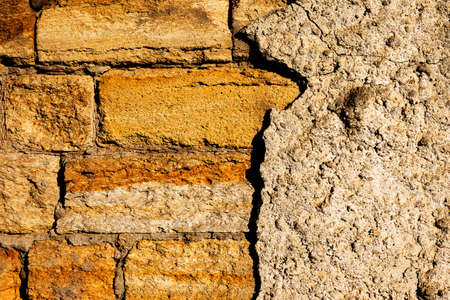 Background of old stone walls of city buildings. Texture cement wall. Stock Photo - 17344756