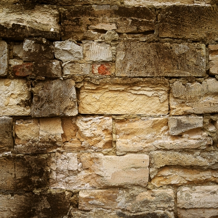 Old stone walls of city buildings, texture cement wall Stock Photo - 17476924