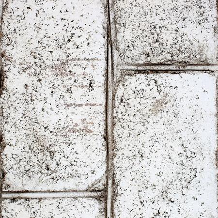 Background dirty retro wall of white brick Stock Photo - 17963988