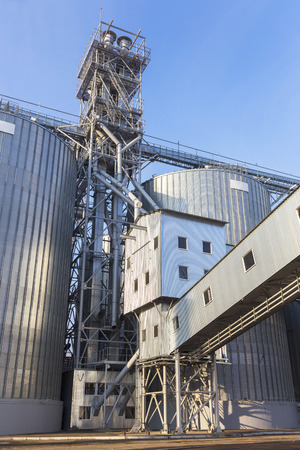 A row of granaries for storing wheat and other cereal grains Stock Photo - 23544703