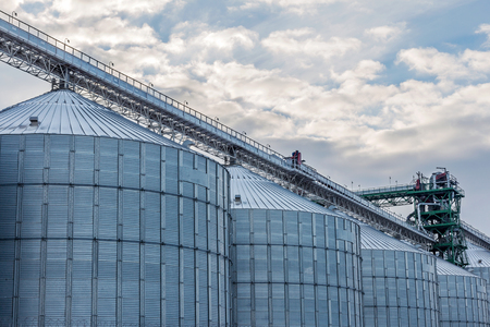 big bin: A row of granaries for storing wheat and other cereal grains