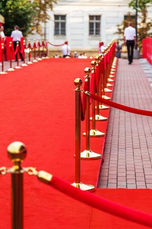 Camino al éxito en la alfombra roja (cuerda Barrera) Foto de archivo - 30106931