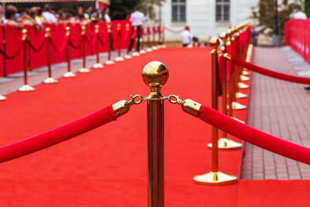 Barrier rope on the red carpet
