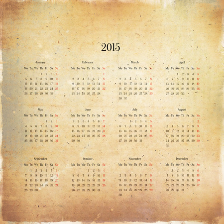 Calendar 2015 in the retro style photo