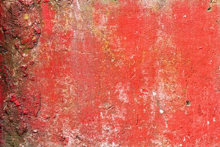 magentas: Abstract background concrete painted with red paint, weathered with cracks and scratches. Landscape style. Grungy Concrete Surface. Great background or texture.