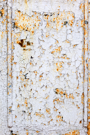 ripped metal: Creative background of rusty metal with cracks and scratches, carelessly painted paint. Grungy metal surface. Great background or texture for your project. Stock Photo