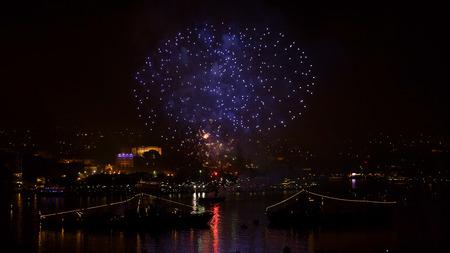 Sevastopol, Crimea - May 9, 2015: salute in honor of 70th anniversary of Victory Day in Sevastopol