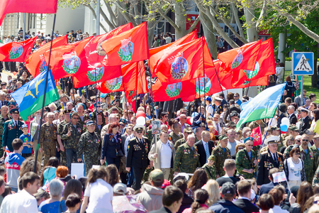 forefather: SEVASTOPOL, CRIMEA - MAY 9, 2015: Veterans at the parade in honor of the 70th anniversary of Victory Day on 9 May 2015, Sevastopol