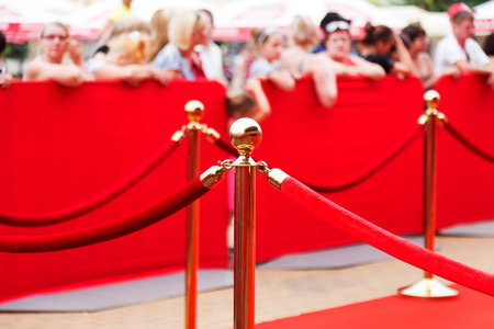 Way to success on the red carpet (Barrier rope) Archivio Fotografico