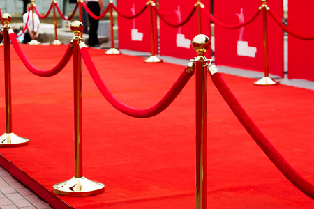 barrier rope: Odessa, Ukraine - July 10, 2015: Way to success on the red carpet (Barrier rope). Odessa international film festival, July 10, 2015, Odessa. Editorial