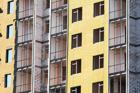 building external: Construction of the building with external insulation