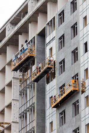double glazing: ODESSA - OCTOBER 20: glazed windows double-glazed windows in the construction of high-rise buildings, October 20, 2015 in Odessa, Ukraine.