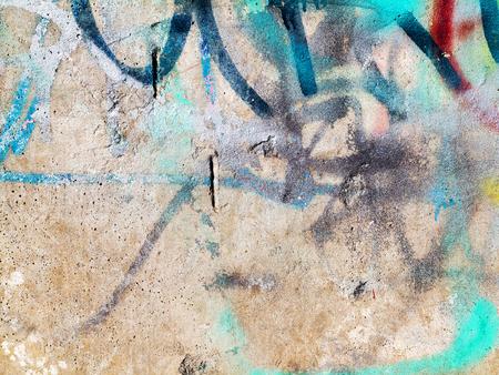 Beton Verwitterte Abgenutzte Wand Beschadigte Farbe Grungy Beton