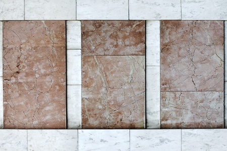 craft on marble: Facade walls are covered with marble tiles