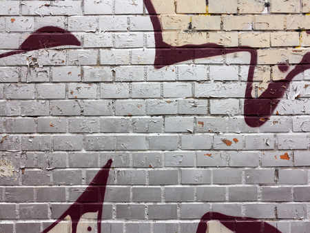 dark city: Concrete, weathered, worn wall damaged paint. Grungy Concrete Surface. Great background or texture.