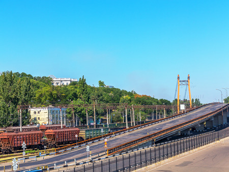 goods train: Odessa, Ukraine August 15, 2016: Transport cars and railway junction in the guiding commercial port in Odessa, Ukraine, August 15, 2016 Editorial