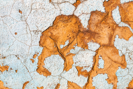 urban decay: Abstract concrete, weathered with cracks and scratches. Landscape style. Grungy Concrete Surface. Great background or texture. Stock Photo