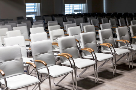 furnishings: Empty chairs in the conference room business lounge Stock Photo