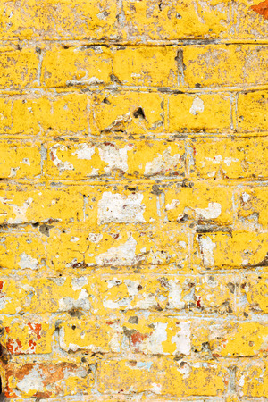 Abstract background old white brick wall with cracks and scratches. Landscape style. Great background or texture.