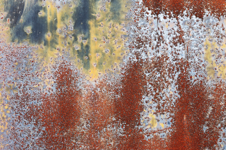 copper texture: Rough texture - the surface of rusty iron sheet Stock Photo