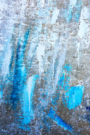 Old wall with several layers of paint Stock Photo
