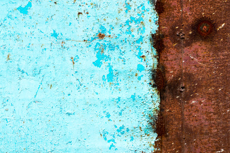 Rough texture - the surface of rusty iron sheet Stock Photo