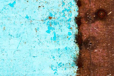 Ruwe textuur - het oppervlak van roestig ijzeren vel Stockfoto