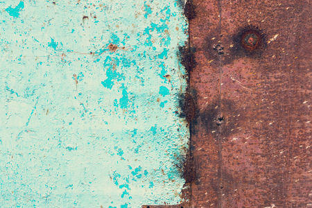 corroded: Rough texture - the surface of rusty iron sheet Stock Photo