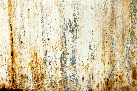 Creative bright metallic background. Flat background texture of dirty rusty metal. Bright rusty spots as the main background for a vintage scratched design Stock Photo
