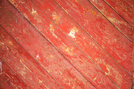 Wooden planks background. Wooden planks with cracked old paint residue. Withered old fence boards. As background for creative design. Reklamní fotografie